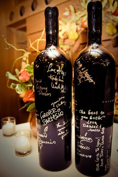 21 alternative unique guest book ideas bespoke bride for How to preserve wine after opening bottle