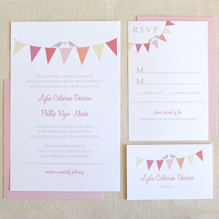 65 FREE Wedding Printables for the DIY Lovers – Free Wedding Invitation Cards Templates