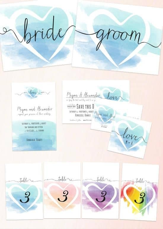 65 free wedding printables for the diy lovers bespoke for Free printable wedding invitations wedding chicks