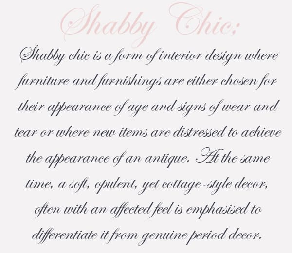 the ultimate guide to a shabby chic