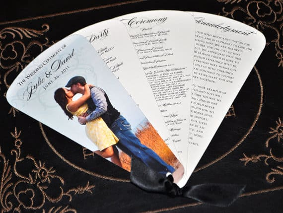 8 Unique Alternative Ways To Display Your Wedding Program