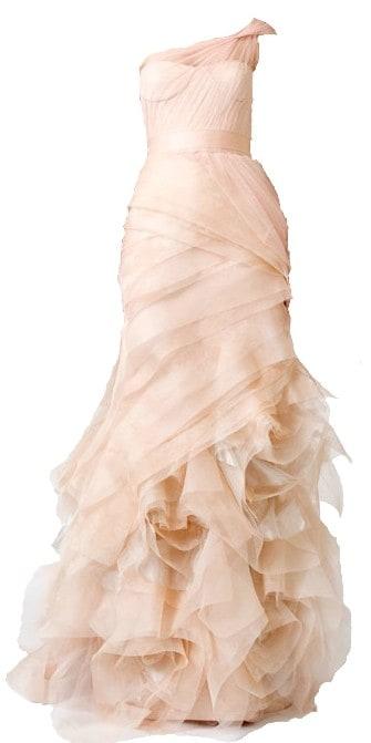 fashion friday the rise of the blush wedding dress With vera wang bespoke wedding dress