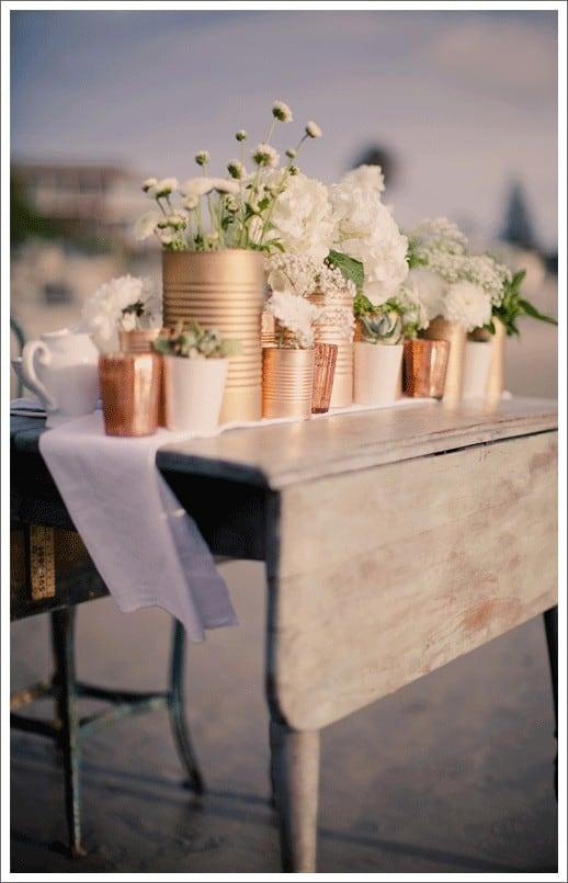 Flowers in copper