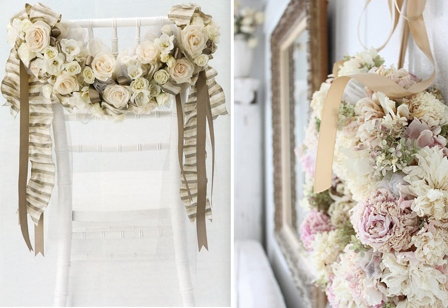 15 unique alternative ways to display your wedding - Decorazioni natalizie stile shabby chic ...