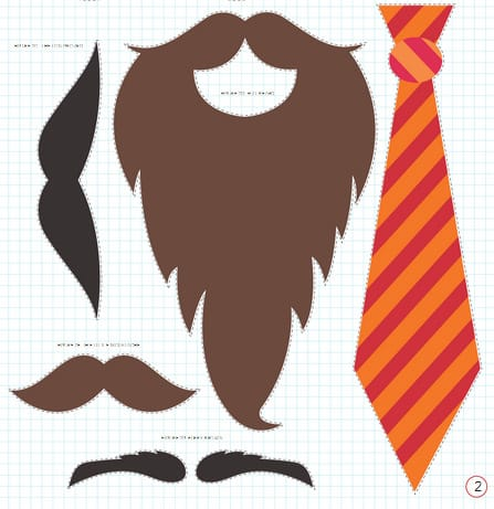 Beard Template Printable How about this twitter beard