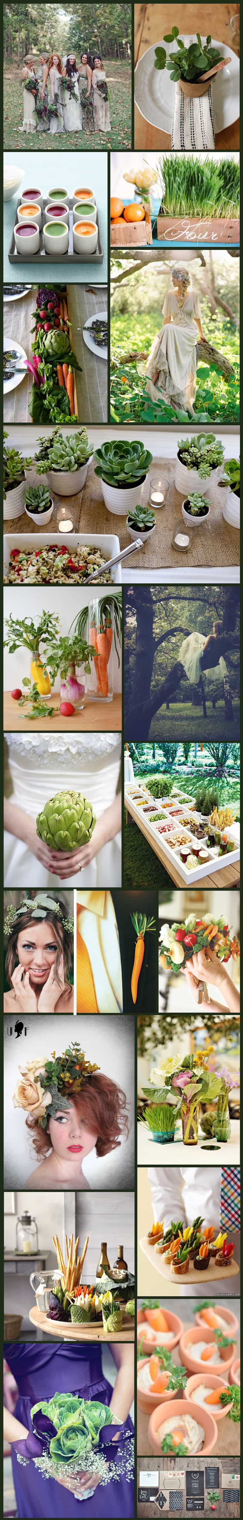 Earth Vegetable Garden Inspiration Board
