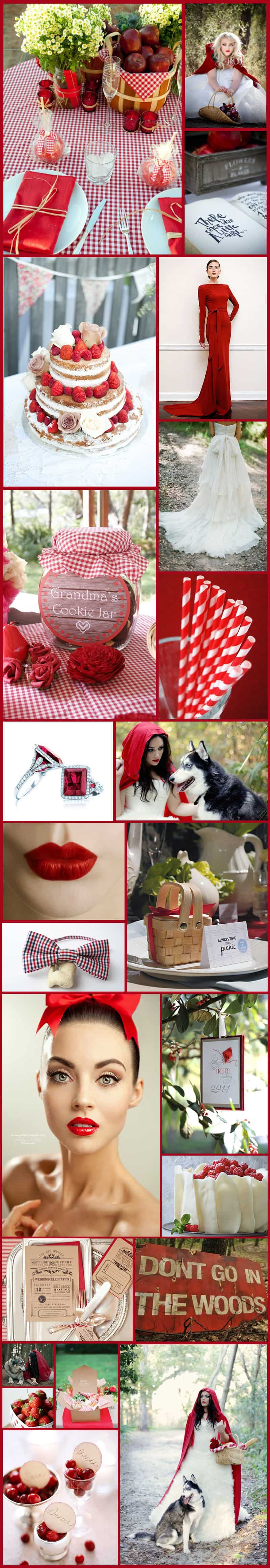 Little Red Riding Hood Inspiration Board