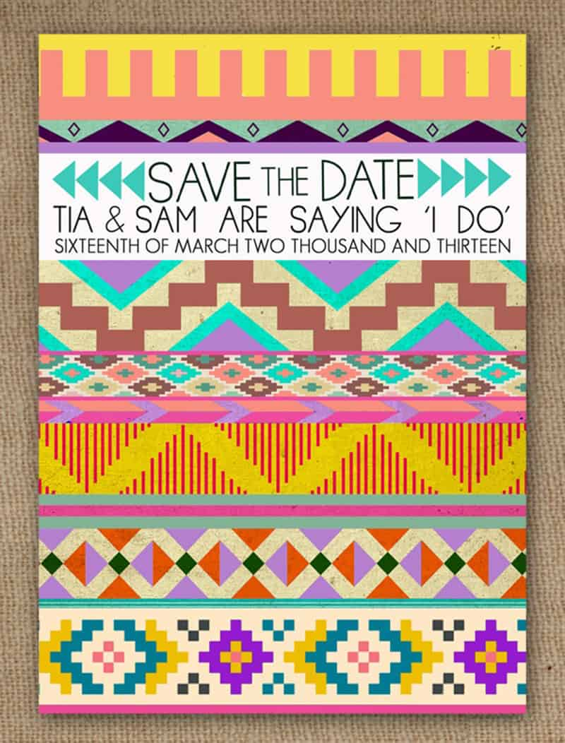 Aztec save the date