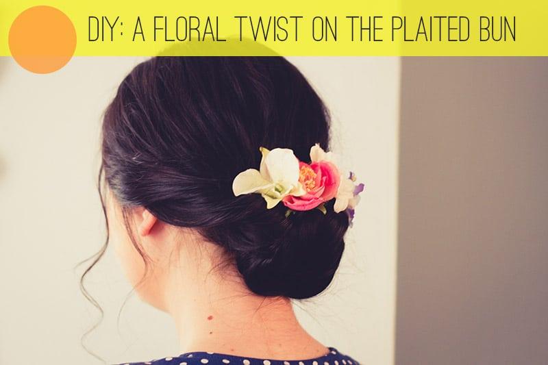Hair Tutorial Floral Twist Bun