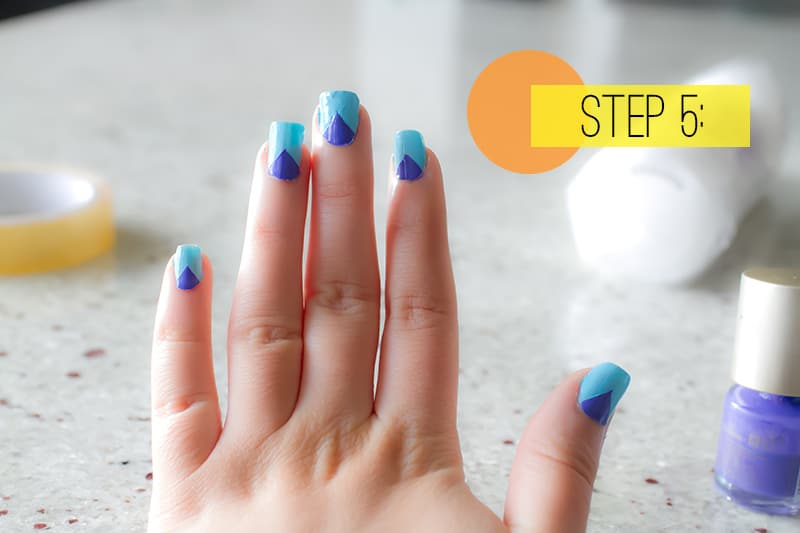 Beauty diy how to paint aztec nails bespoke bride wedding blog aztec nails5 prinsesfo Gallery