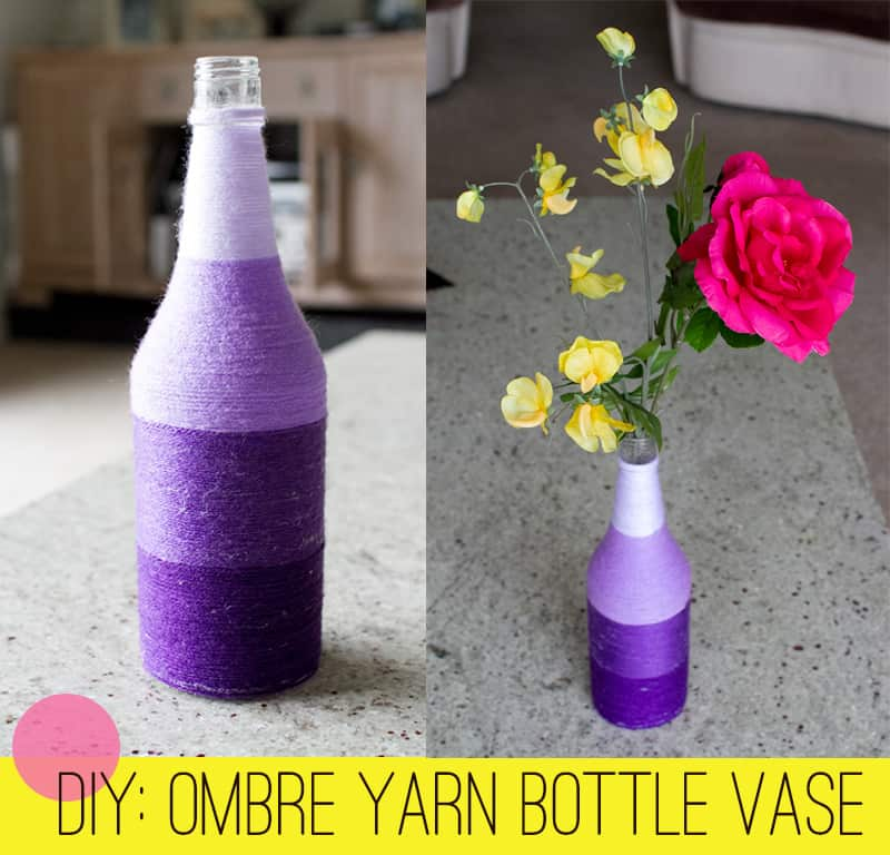 DIY Ombre Yarn Bottle