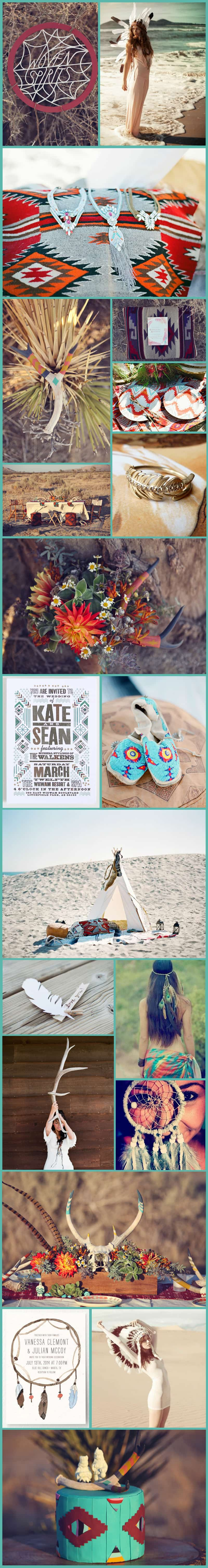 Native American Wedding Inspiration Board