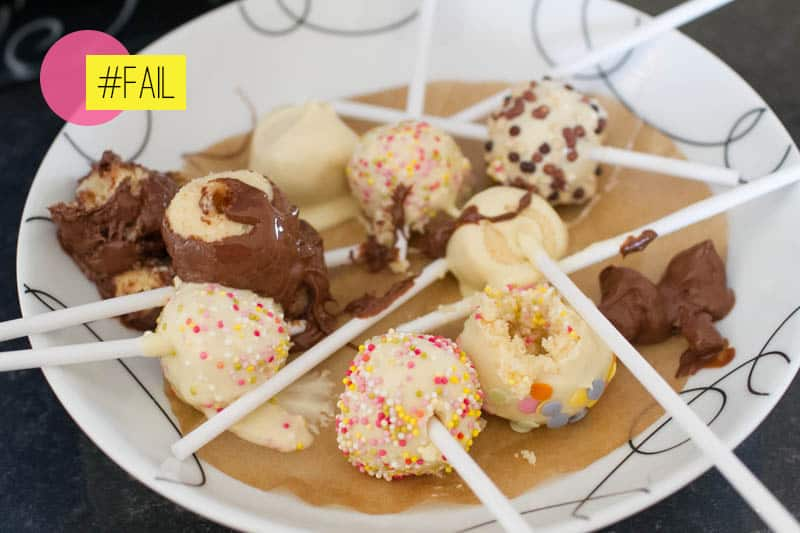 DIY How To Make Cake Pops-fail