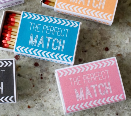 DIY Match Box Favours & Prntables