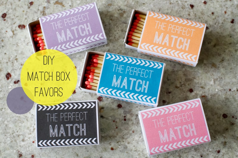 Wedding Diy Match Box Favors With A Free Bespoke Bride Blog