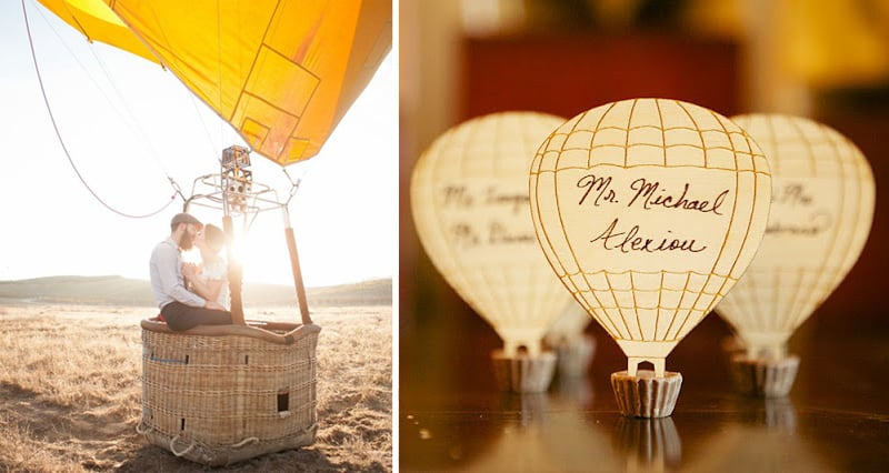 Wednesday Wedding Inspiration Hot Air Balloons Baby Bespoke Bride Blog