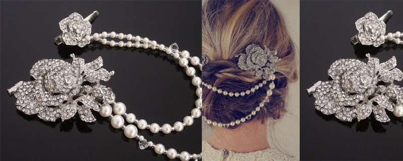 pearll drop hair piece