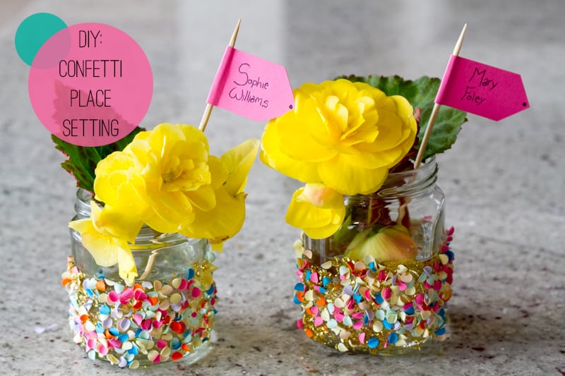 Confetti Jar Place Setting DIY How To