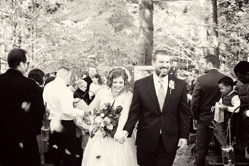 a great gatsby themed wedding in the wooded mountains