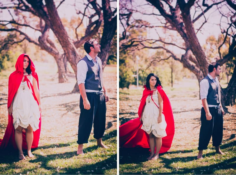 little red riding hood engagment