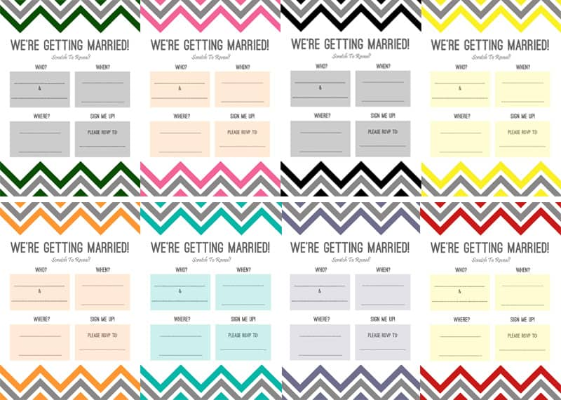 DIY Scratch Card wedding Invitations | Bespoke-Bride ...