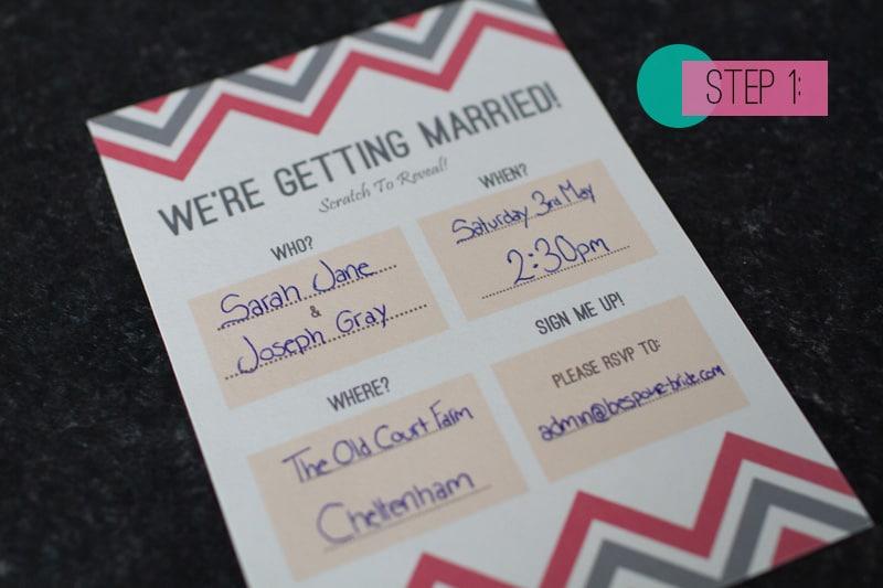 DIY Scratch Card wedding Invitations – Make a Invitation Card