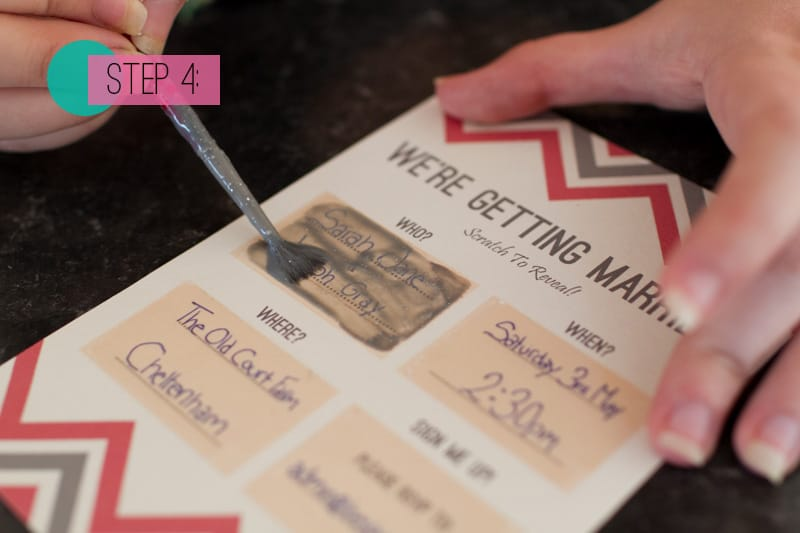 DIY Scratch Card wedding Invitations BespokeBride Wedding Blog