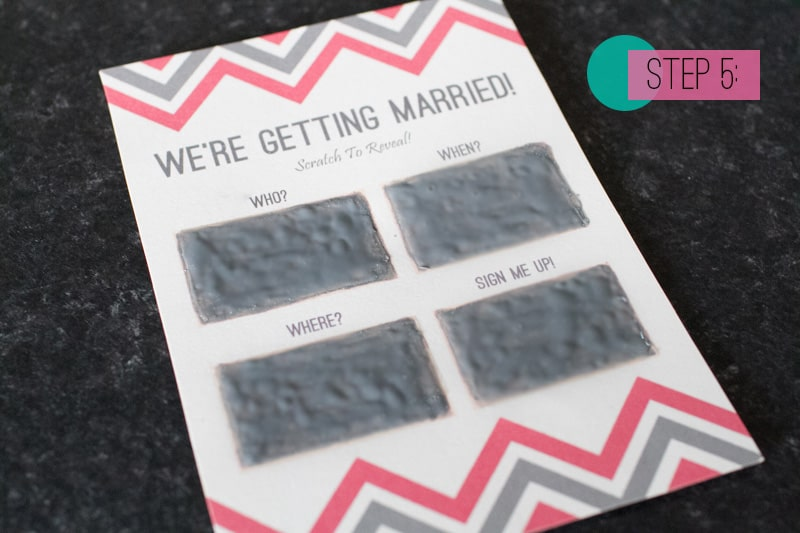 Scratch Card Wedding Invite DIY 5