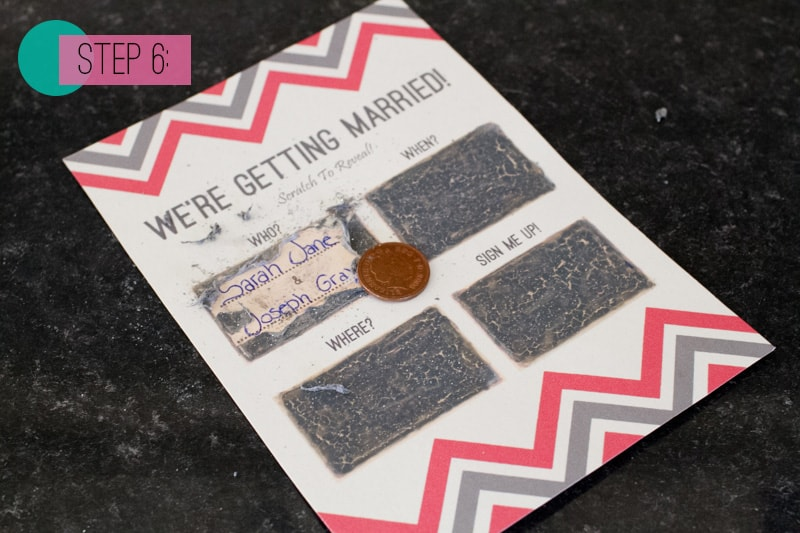 Scratch Card Wedding Invite DIY 6