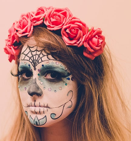 Beauty Diy How To Do Day Of The Dead Dia De Los Muertos Makeup - Day-of-the-dead-makeup-tutorial-video