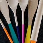 Home DIY: How To Make Paint 'Dipped' Wooden Spoons, Spatulas & A Rolling Pin!
