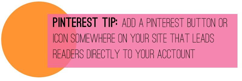 Pinterest Tip Button