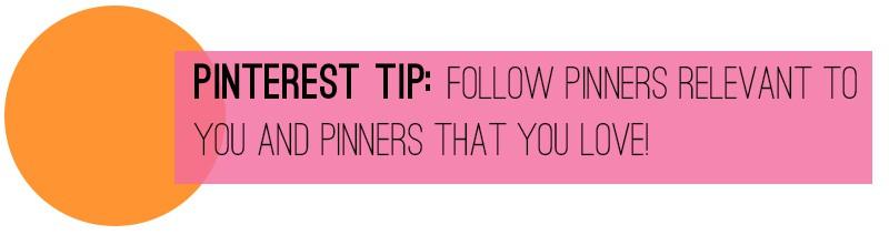 Pinterest Tip Follow pinners