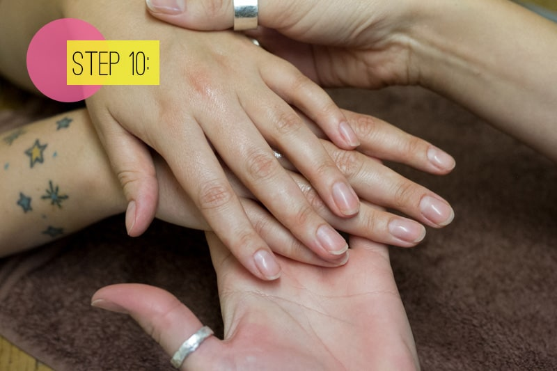 Step 9 Buff Your Nails Using