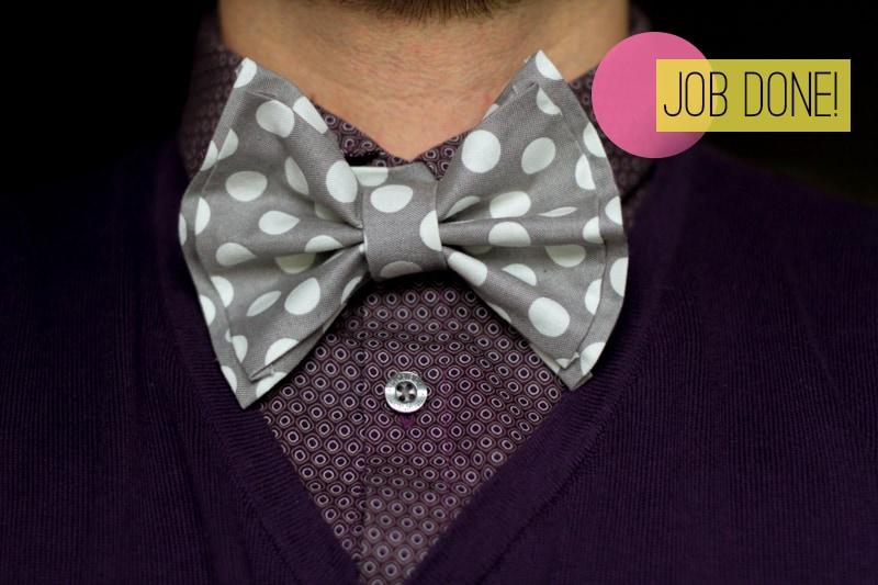 DIY How To Make A Bow Tie Polka dot Wedding DIY-10