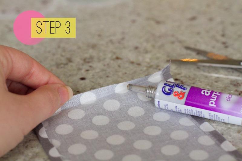 DIY How To Make A Bow Tie Polka dot Wedding DIY-3