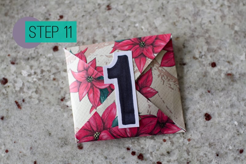 DIY How To Make A Christmas Advent Calendar with Envelopes-13