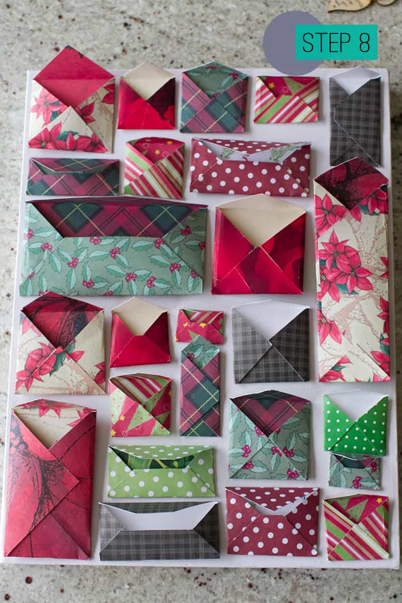 DIY How To Make A Christmas Advent Calendar with Envelopes-8..