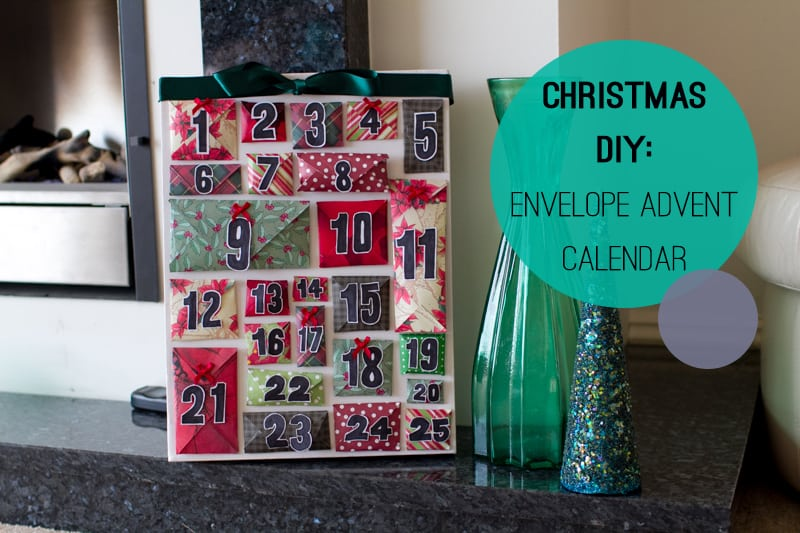 DIY How To Make A Christmas Advent Calendar with Envelopes Main