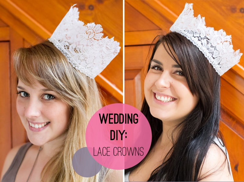 Lace Crowns Wedding DIY