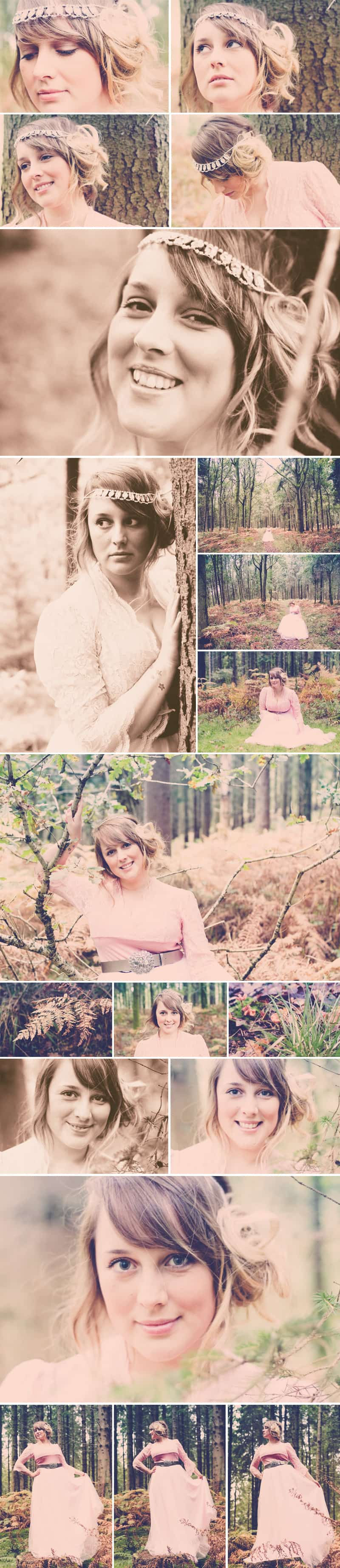 Styled Woodland Shoot Blush Brink Bridal Emily 2