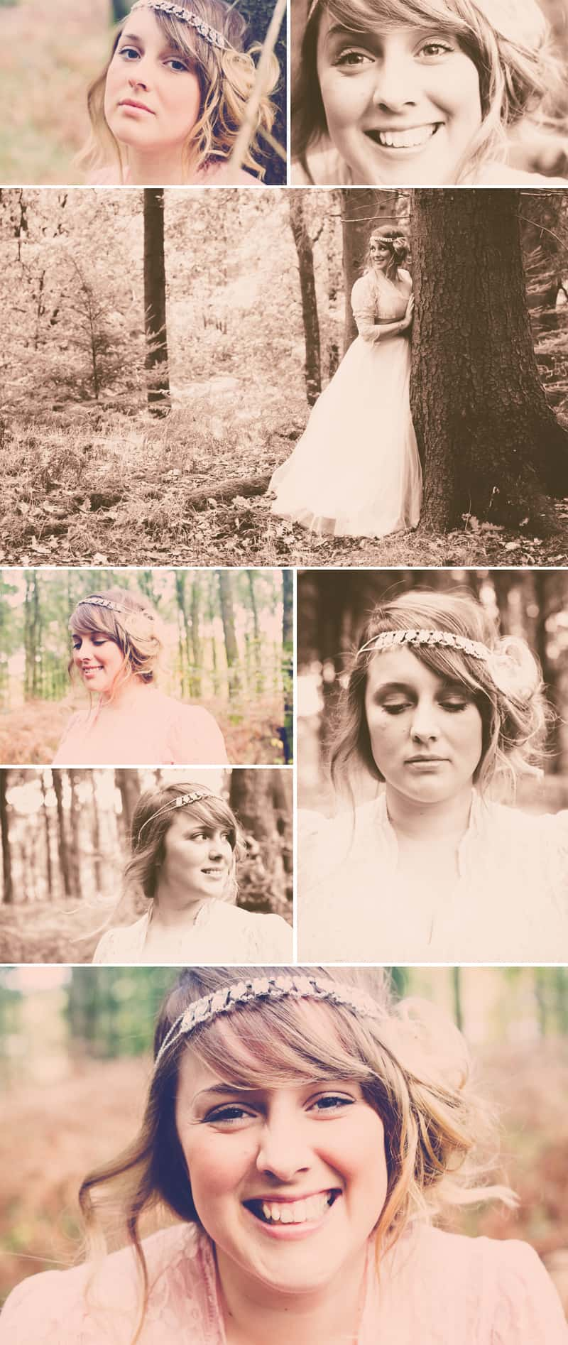 Styled Woodland Shoot Blush Brink Bridal Emily