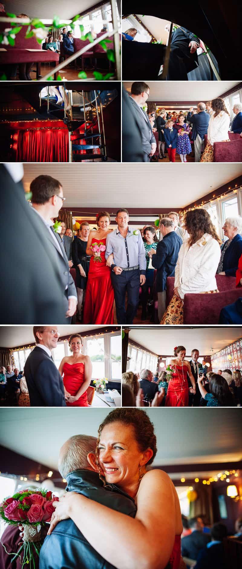 Battersea barge wedding