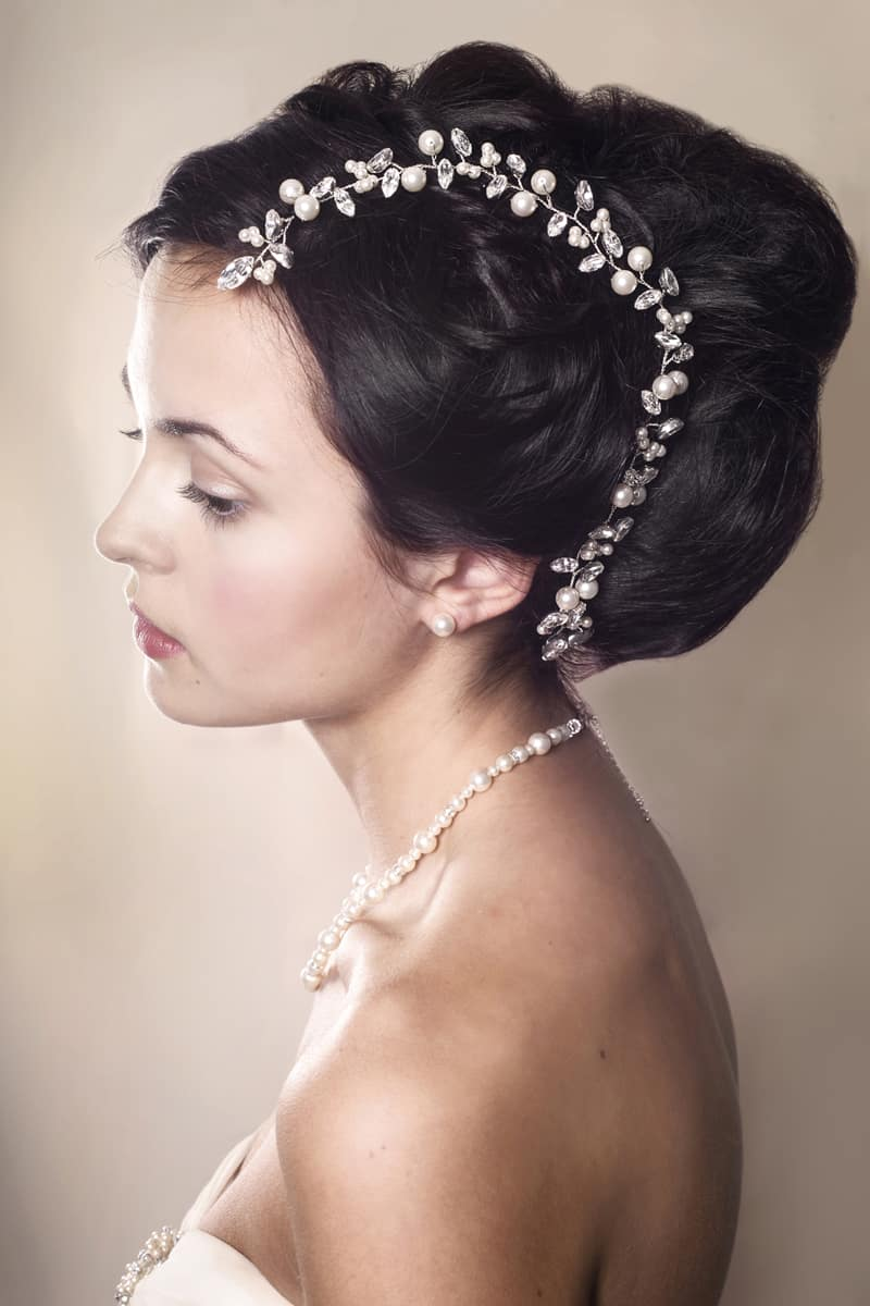 Bryony Wedding Hair Vine Modelled 104 www rosiewillettdesigns co uk  (2)