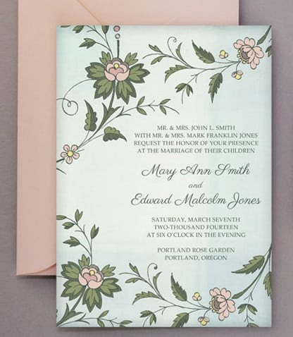 Wedding DIY Free Printable Invitations RSVP BespokeBride