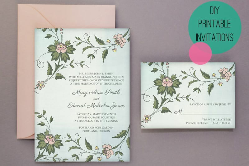 Wedding DIY Free Printable Invitations Amp RSVP