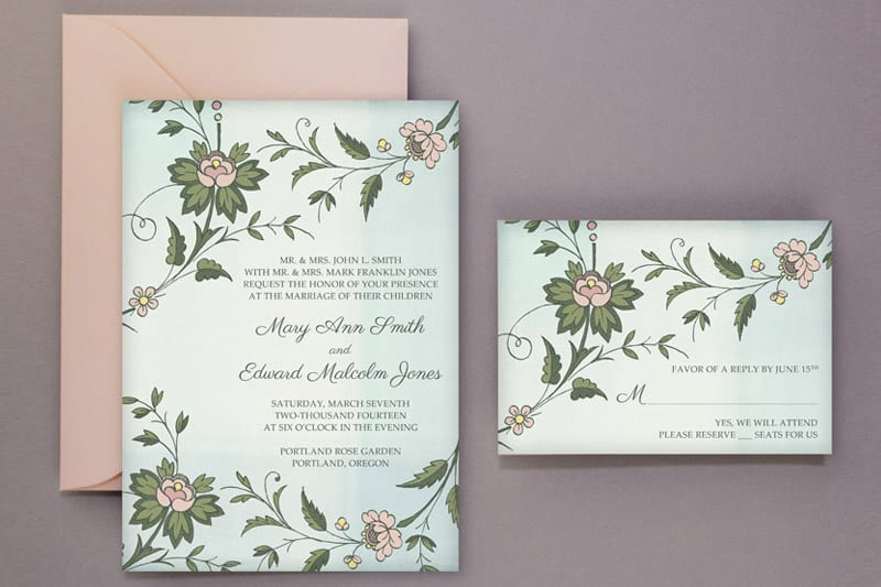 Wedding DIY: Free Printable Invitations U0026 RSVP | Bespoke Bride: Wedding Blog  Free Rsvp Card Template