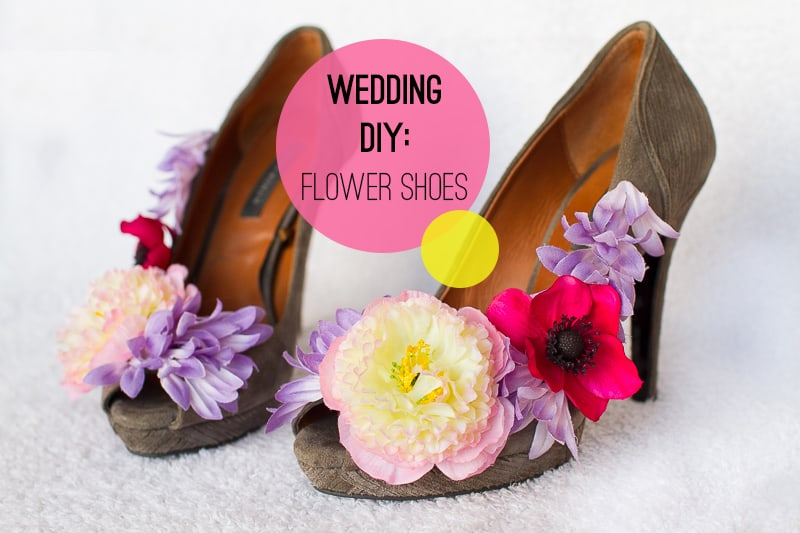 DIY Floral Flower Wedding Shoes Main