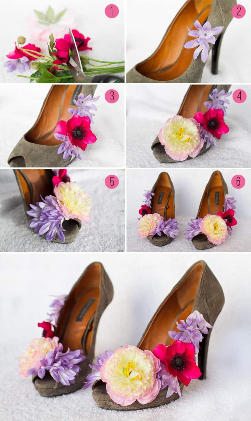wedding diy how to make flower shoes bespoke bride wedding blog. Black Bedroom Furniture Sets. Home Design Ideas
