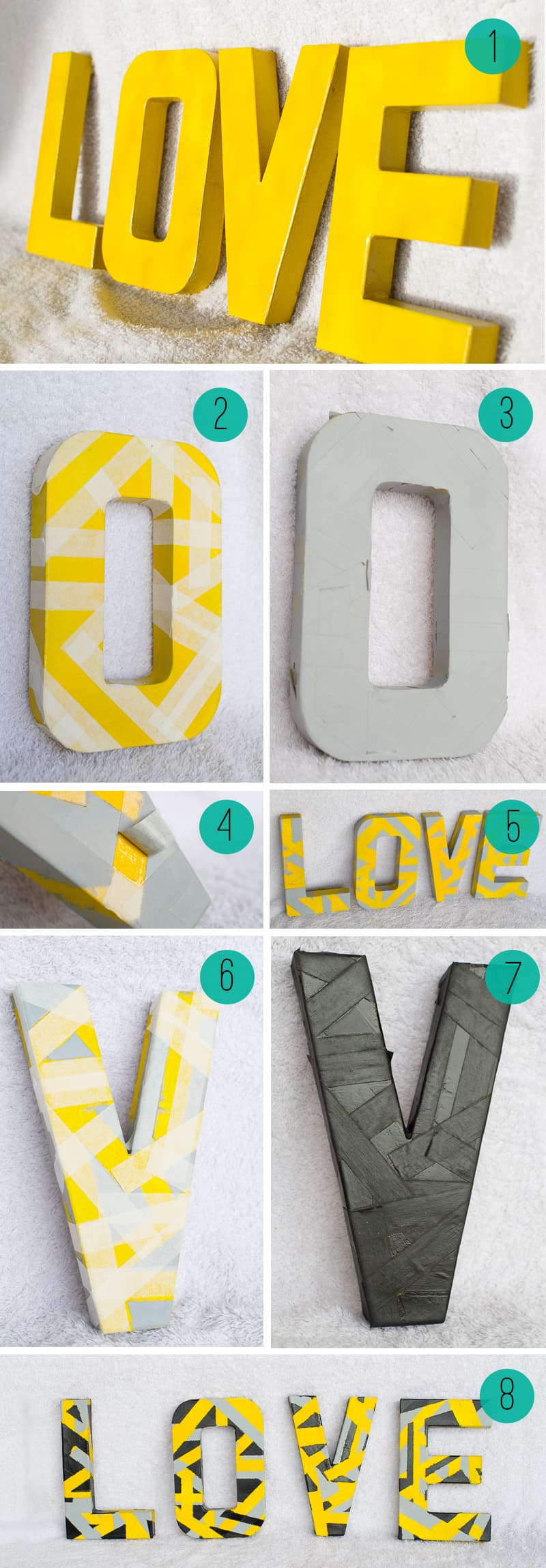 Geometric Love Letters Tutorial